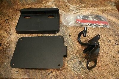 OEM Harley Davidson side axle mount license plate kit with plate light