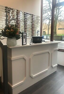 Bespoke beauty salon reception desk xx free delivery xx painted and ready to use