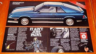 Awesome 1983 Dodge Shelby Charger Retro Ad - Mopar 80S Vintage Auto