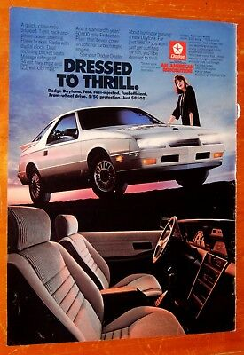 Awesome 1985 Dodge Charger In White Vintage Ad - American 80S Retro Mopar