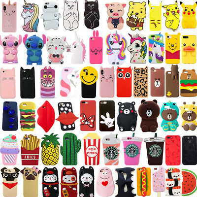 For iPhone SE 5 5s 5c 4s Hot 3D Cute Fashion Cartoon Silicone Phone Case Cover
