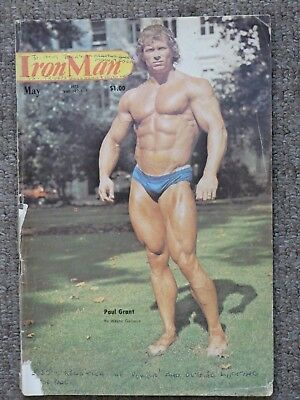 IronMan Magazine May 1975 Paul Grant Vintage Bodybuilding Rare