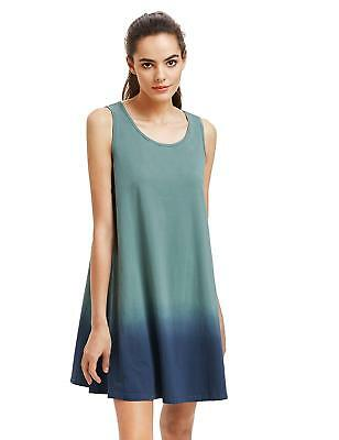 d94babbc5f278 Romwe Women's Tunic Swing T-Shirt Dress Sleeveless Tie Dye Ombre Tank Top  Dress