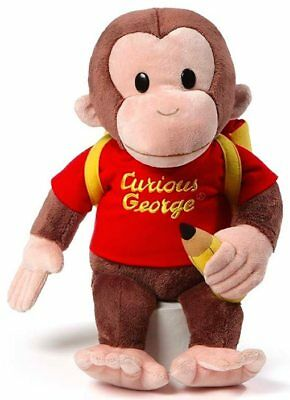 NEW GUND Curious George With Backpack - 40cm from Purple Turtle Toys