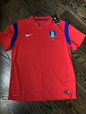 7b91a7ee5d9 Nike Authentic 2014 World Cup South Korea Home Soccer Jersey 578196 604 XL