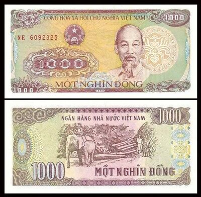 VIETNAM 1000 Dong, 1988, P-106, UNC World Currency