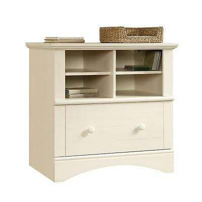 """Sauder Harbor View Lateral File, Antiqued White Finish 31.969"""" L x 21.181"""""""