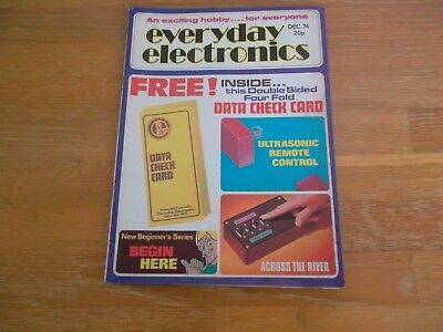 Everyday Electronics Magazine Dec 1974 Remote Control Across The River