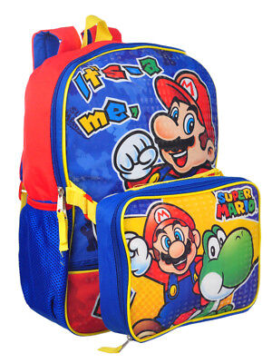 Super Mario Backpack with Insulated Lunchbox