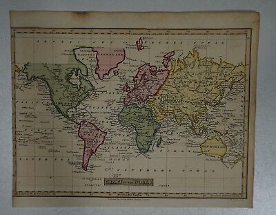 1814 J Russell - Chart of the World map