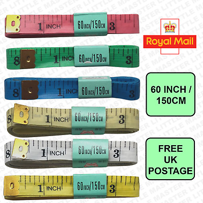 """New Good Quality Measuring tape Ruler Sewing Cloth Tailor Body Flat 60"""" / 150cm"""