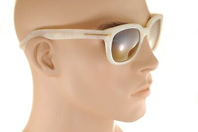 003e783462 TOM FORD CAMPBELL TF198 25G 53mm Mens Large Plastic Sunglasses WHITE GOLD  MIRROR