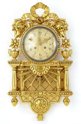 20Th Century Westerstrand Ornate Gilt Wall Clock