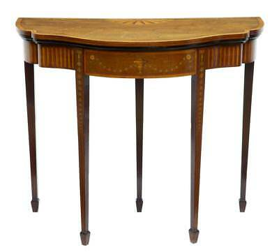 19Th Century Sheraton Revival Inlaid Mahogany Card Table