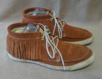 0b65447c7f75 Womens CONVERSE All Star Ankle High Fringe Moccasin Sneakers Size US 8 M
