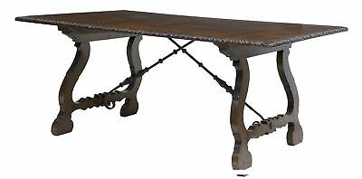 Spanish Influenced Oak Parquetry Top Refectory Table