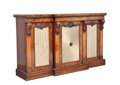 19Th Century William Iv Rosewood Breakfront Cabinet