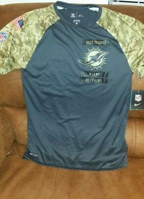 nike dri-fit camo miami dolphins salute to service nfl shirt NWT size M mens 02f7d2316