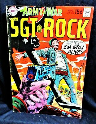 """Sgt. Rock (Our Army at War)"" #209 Comic Book (1969, DC)"