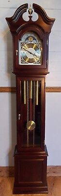 Grandfather Clock-VGC/Hermle Triple Chime/Moon/NATIONWIDE PERSONAL DELIVERIES
