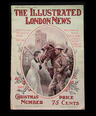 """1917 copy of """"The Illustrated London News"""" Christmas Number. With complete novel"""