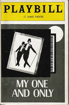 Playbill My One and Only Twiggy Tommy Tune N Visitor St James Theatre Jun 1983 k