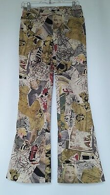 Moschino Jeans Mozart Music Notes Print Cotton Pants Size 27  4/6