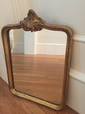 Antique Florentinian Mirror- Gold leaf applied  to carved wood
