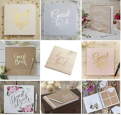 Ginger Ray Plain Wedding Guest Book, Christening, Guest Book
