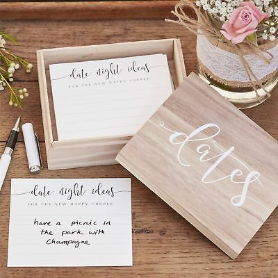 Wooden Date Night Ideas Suggestion Box - Alternative Wedding Guest Book Keepsake