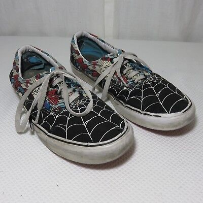 e28c39971925 2013 Vans Marvel Comics Spiderman Web Skateboard Shoes Size 10.5 Destroyed