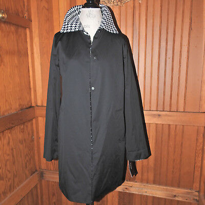 Jones of New York Black and Houndstooth Reversible Jacket Size Small NWT!