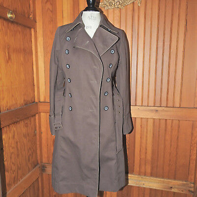 Anthropologie Elevenses Brown Trench Coat Size 4