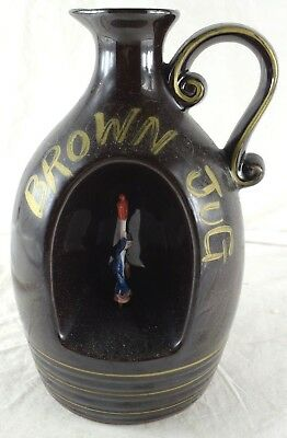 """1950's Barware """"How Dry I Am"""" Music Box Little Brown Jug Decanter Working Japan"""