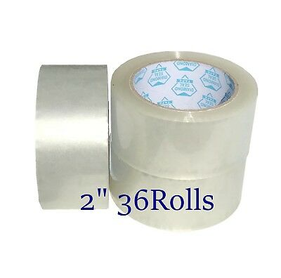 """PATRON 24 ROLLS 3/"""" x 330/' CLEAR JUMBO PACKING TAPE 1.8 mil 110 YARDS"""