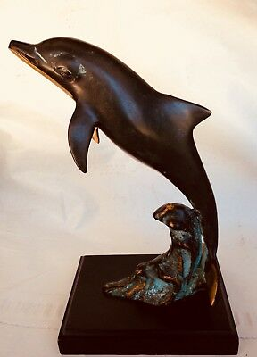 Vintage San Pacific International, San Francisco Brass Dolphin Sculpture