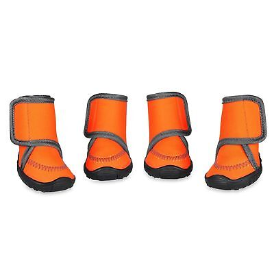 Dog Boots Waterproof Paw Protectors Dog Shoes w/ Adjustable Strap Anti-Slip Sole