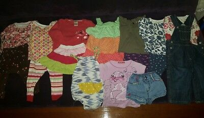 93b954b504c41 17 pc lot Baby Girl Clothing size 12-18 months Tea Collection