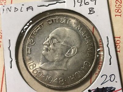 1969B India 10 Rupees silver world foreign coin Excellent condition high value