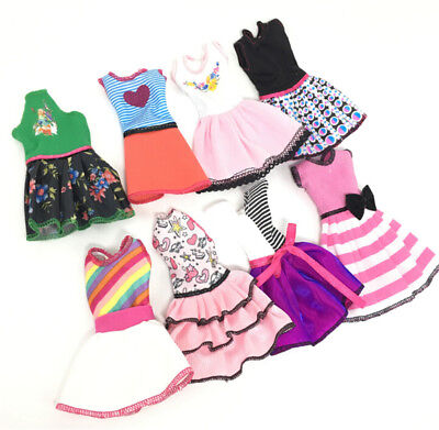 Beautiful Handmade Fashion Clothes Dress For Barbie Doll Cute Lovely Decor HT