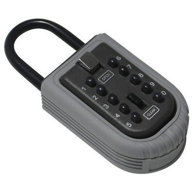 Outdoor Wall Mount 10 Digit Combination Lock High Security Key Safe Box Black