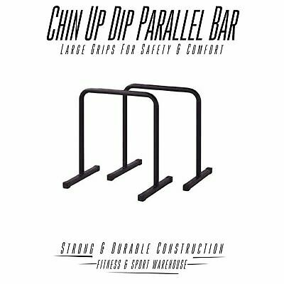 Premium Pair Dip Up Parallel Parallette Bar Fitness Strength Training Equipment