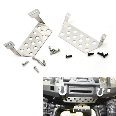 2x TRX4 Stainless Steel Chassis Protector Plate for 1/10 RC Crawler Traxxas Hot
