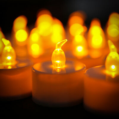 24 X Flickering LED Tea Light Tealight Candle Flameless Wedding Battery Included