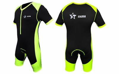 Men's Cycling Skinsuit One Piece Padded Bicycle Jersey Short Set Trisuit