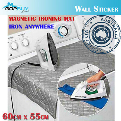 Magnetic Ironing Mat Compact Portable Iron Board Travel Dryer Washer Anywhere