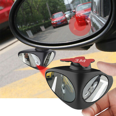 2in1 Car Blind Spot Mirror Adjustable Wide Angle Rearwiew Front Wheel Inspection