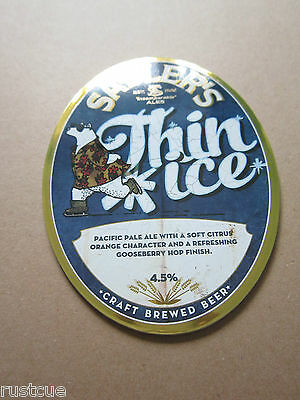 Sadler's - Thin Ice - Pump Clip Front Badge Beer Real Ale