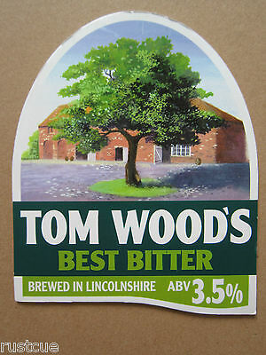Tom Wood's - Best Bitter - Pump Clip Front Badge Beer Real Ale
