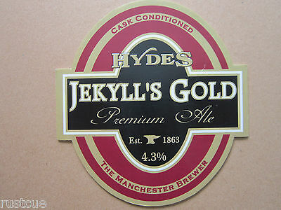 Hydes - Jekyll's Gold - Pump Clip Front Badge Beer Real Ale